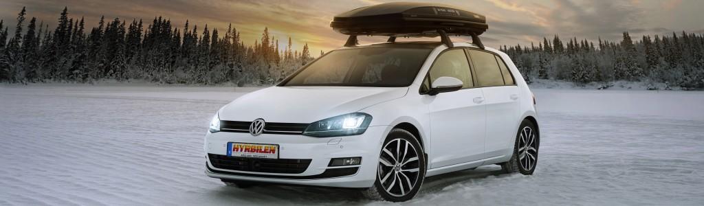 VW Golf med takbox