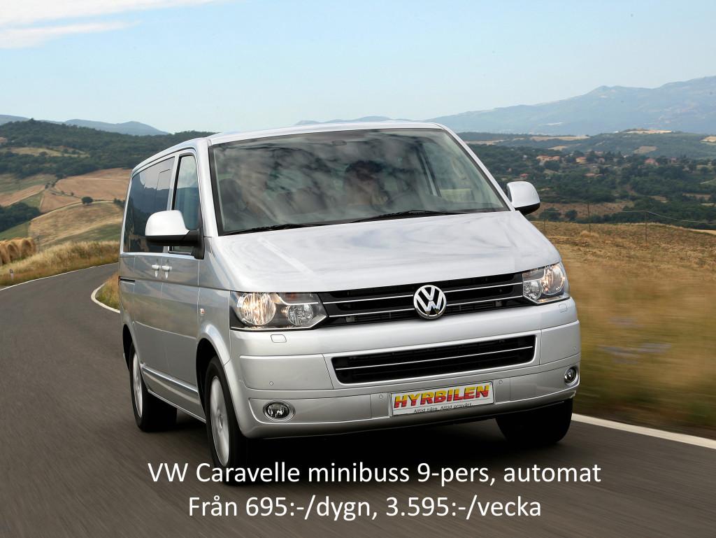 VW Caravelle minibuss 9-pers, aut